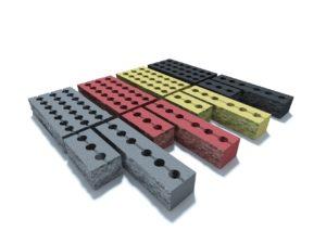 Заборный колотый блок