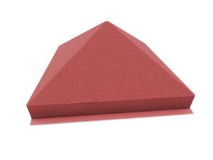 Пирамида 45х45 красная