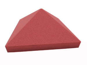 пирамида 55х55 красная